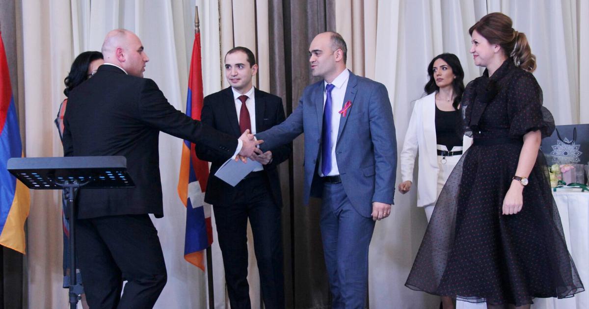 MikayelTovmasyan, Head ofAcinoin Armenia at the award ceremony